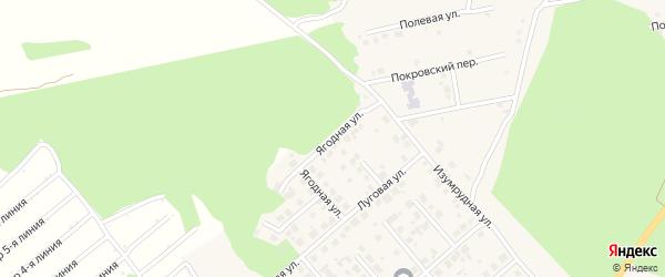 Ягодная улица на карте Долгодеревенского села с номерами домов