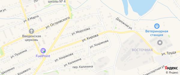 Улица Кирова на карте Еманжелинска с номерами домов