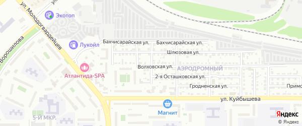 Игровая 2-я улица на карте Челябинска с номерами домов