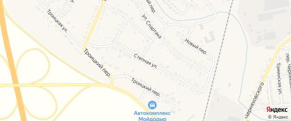 Степная улица на карте Коркино с номерами домов