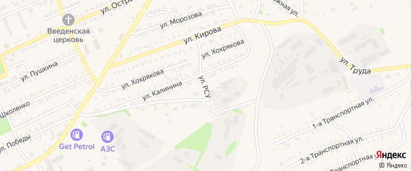 Улица РСУ на карте Еманжелинска с номерами домов