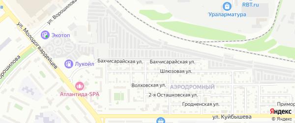 Бахчисарайская улица на карте Челябинска с номерами домов