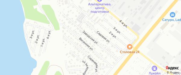 Улица Заводская (Шершни) на карте Челябинска с номерами домов