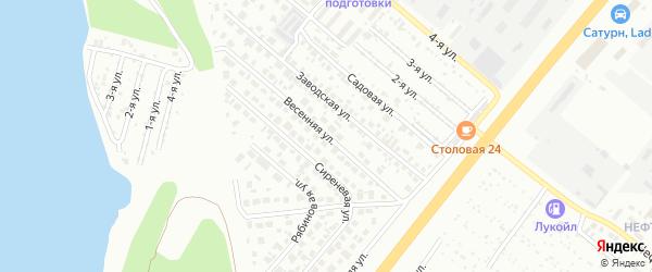 Весенняя улица на карте Челябинска с номерами домов