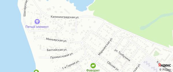 Обский переулок на карте Челябинска с номерами домов