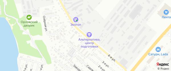 Улица Трактовая (Исаково) на карте Челябинска с номерами домов