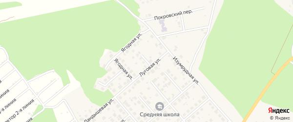 Малиновый переулок на карте Долгодеревенского села с номерами домов