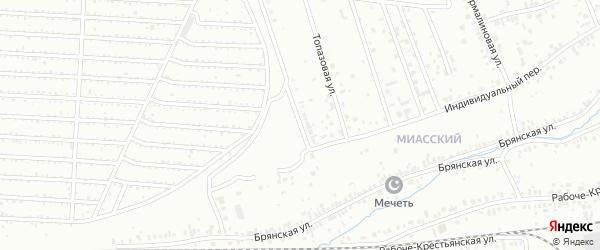 Барбарисовая улица на карте Челябинска с номерами домов