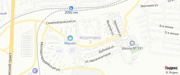 Территория ГСК пос Федоровка на карте Челябинска с номерами домов