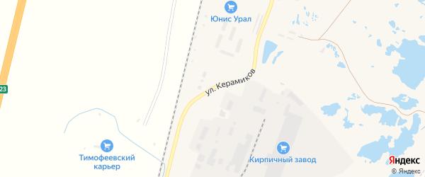 Улица Керамиков на карте Коркино с номерами домов
