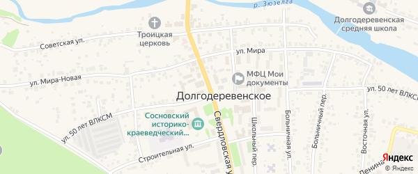 Свердловская улица на карте Долгодеревенского села с номерами домов