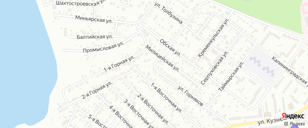 Маршанская улица на карте Челябинска с номерами домов