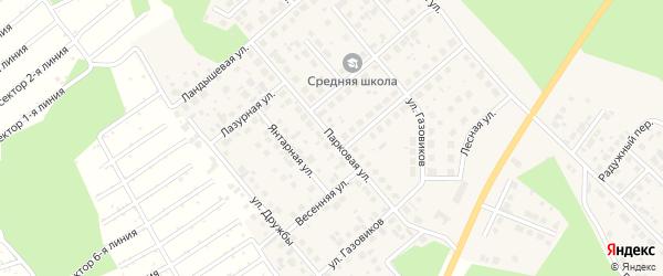 Парковая улица на карте Долгодеревенского села с номерами домов