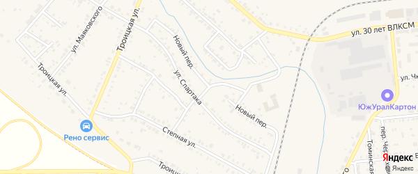 Новый переулок на карте Коркино с номерами домов