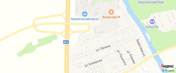 Садовая улица на карте деревни Нового Поля с номерами домов