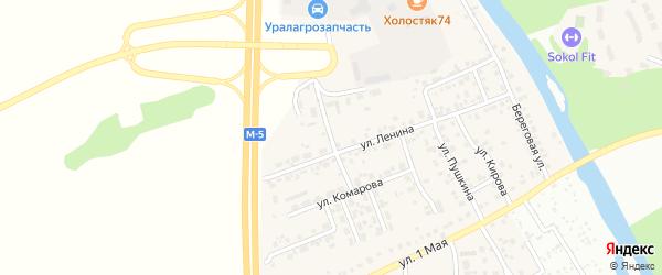Улица Комарова на карте деревни Нового Поля с номерами домов