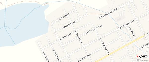 Степная улица на карте Увельского поселка с номерами домов