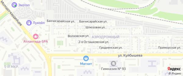 Делегатская улица на карте Челябинска с номерами домов