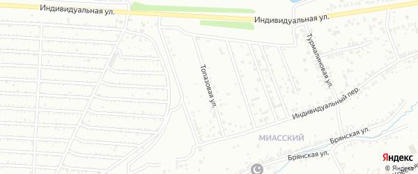 Топазовая улица на карте Челябинска с номерами домов