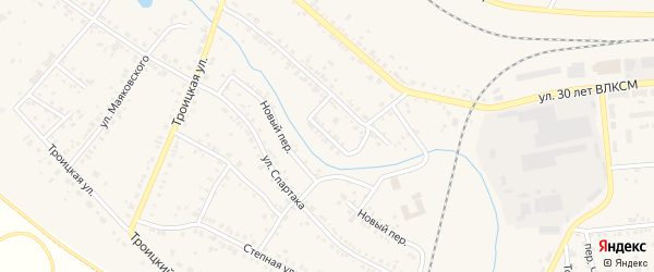 Переулок Чапаева на карте Коркино с номерами домов