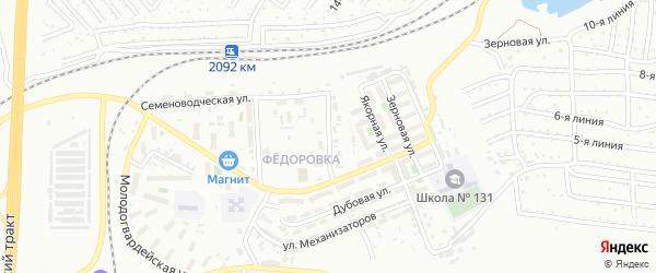 Капитанская улица на карте Челябинска с номерами домов
