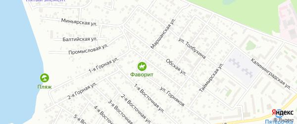 Милицейская улица на карте Челябинска с номерами домов