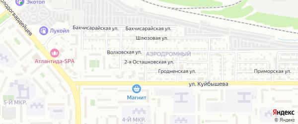 Осташковская 2-я улица на карте Челябинска с номерами домов