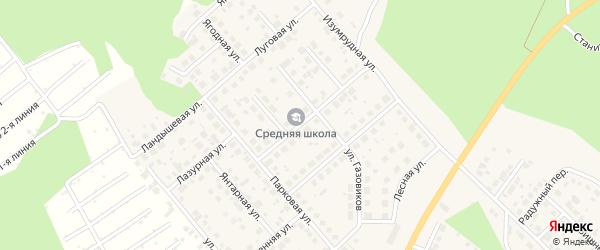 Центральная улица на карте Долгодеревенского села с номерами домов