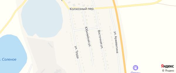 Юбилейная улица на карте села Половинки с номерами домов