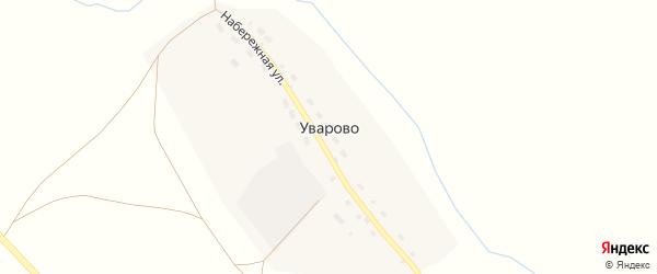 Набережная улица на карте поселка Уварово с номерами домов
