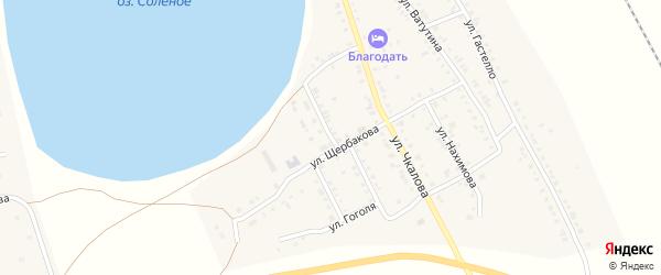 Озерная улица на карте Увельского поселка с номерами домов