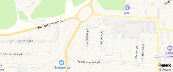 Садовая улица на карте Долгодеревенского села с номерами домов