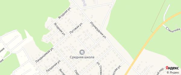 Степной переулок на карте Долгодеревенского села с номерами домов