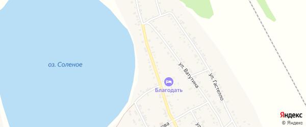Улица Чкалова на карте Увельского поселка с номерами домов