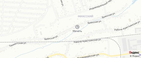 Брянская улица на карте Челябинска с номерами домов