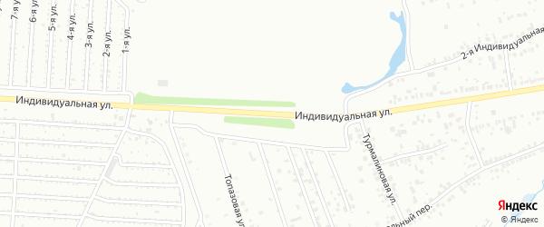Индивидуальная улица на карте Челябинска с номерами домов