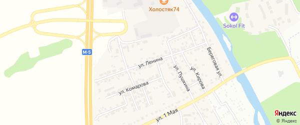 Улица Ленина на карте деревни Нового Поля с номерами домов