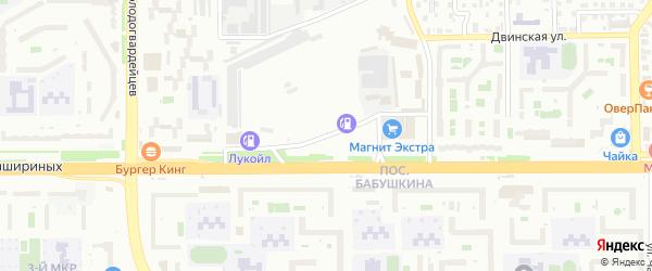 Отрадная улица на карте Челябинска с номерами домов