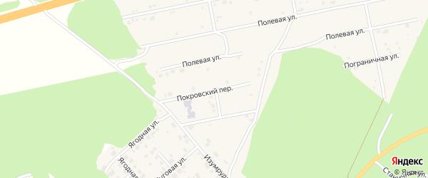 Цветочный переулок на карте Долгодеревенского села с номерами домов
