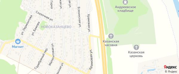 Храмовая улица на карте деревни Казанцево с номерами домов