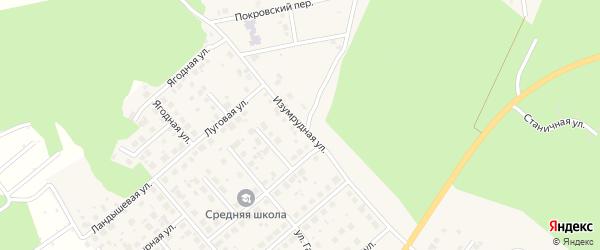 Изумрудная улица на карте Долгодеревенского села с номерами домов
