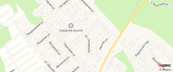 Улица Газовиков на карте Долгодеревенского села с номерами домов