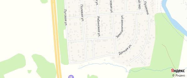 Луговая улица на карте деревни Нового Поля с номерами домов