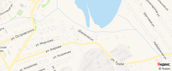 Дорожная улица на карте Еманжелинска с номерами домов