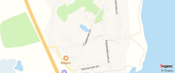 Северная улица на карте деревни Султаева с номерами домов