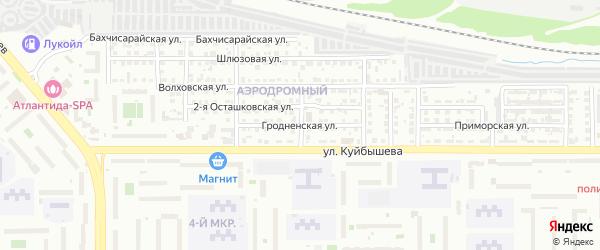 Гродненская улица на карте Челябинска с номерами домов