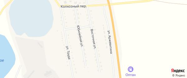 Восточная улица на карте села Половинки с номерами домов