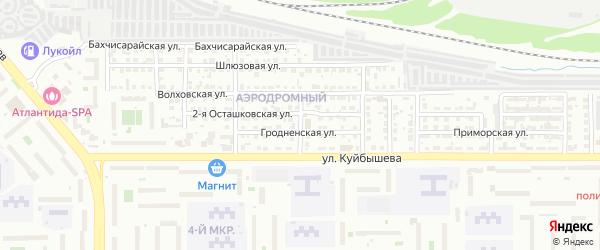 Яхтинская улица на карте Челябинска с номерами домов
