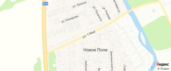 1 Мая улица на карте деревни Нового Поля с номерами домов
