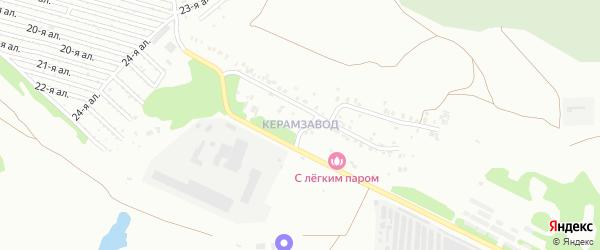 Поселок Керамзавода на карте Челябинска с номерами домов